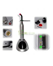 Dental 10W Wireless Curing Light LED Cure lamp Metal Handle Silver