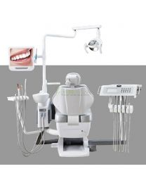 Human Friendly Economical Dental Chair Unit With Unique Translational Height Adjustable Instrument Tray