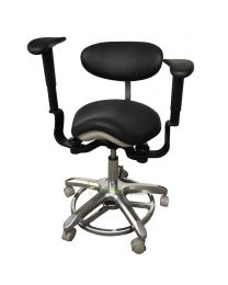 Swing-out Armrests/Elbow Supports Operator Stool