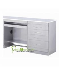 Medical Dental Computer Desks cabinet,Stainless Steel,with 4 Drawers Dental cabinet,985*495*830mm