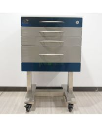 U type Mobile 3-Drawers Single Stainless Steel Medical Dental cabinet,495*495*820mm