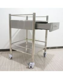 Hot Sale Mobile 1-Drawers Stainless Steel Medical Dental cabinet Cart,555*520*820mm
