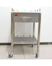 Mobile 1-Drawers Stainless Steel Medical Dental Cabinet Cart,495*495*820mm