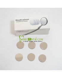 Φ22mm Single Surfaces Replacement Mirrors 6pcs/box For High Rpeed Revolve Rotate Metal Mouth Mirror