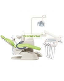 FDA & CE Approved,Dental Chair Unit, Floor Type, Dental Unit With Top Mounted Or Down-mounted instrument tray,Built-in Tissue Box