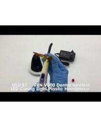VRN V300 Dental wireless LED Curing Light Plastic Handpiece,3W Blue LED Light
