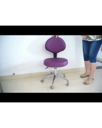 Dental Medical Office Stools Assistant's Stools Adjustable Mobile Chair with PU