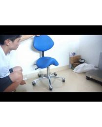 Saddle Stool ,Dental Medical Doctor Assistant Stool Saddle Style Seat with PU Or Microfiber Leather