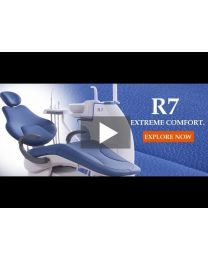 R7 DENTAL CHAIR WITH OPERATING UNIT, BUILT FOR EXTREME PATIENTS AND DENTISTS COMFORT