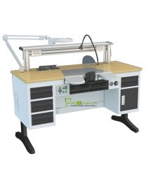 CE Approved,Dental Workstation Single Person Laboratory Equipments, Built-in Dust Collector,1.4M Length