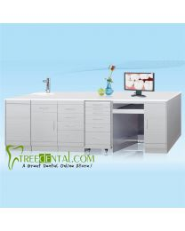 Stainless Steel Combine Cabinet with GZ001C+GZ060B+GD020B+GD010+GZ03 Single Medical Dental cabinet,3040*500*850mm