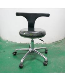 Dental Medical Office Stools Assistant's Stools Adjustable Mobile Chair PU Or Microfiber Leather