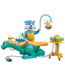 Lovely Dinosaur & Blue Cat design Children dental Chair Unit,Build-in Floor Box