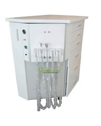 Comprehensive Treatment Unit Integrated With Professional Dental Cabinet, Mobile Cabinet Type, Water Supplied By Bottle