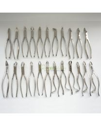23PCS Dental Tooth Forceps set for Adult