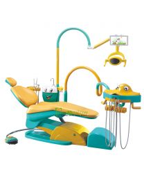 Lovely Cartoon Design Children Dental Chair Unit with A pad for cartoons display