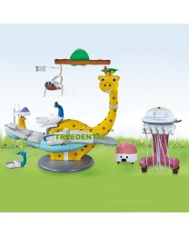 CE Approved,Lovely  Dinosaur Children Dental Chair/Unit,External Floor Box,Hand Cart,Pu Leather