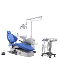 Human Friendly Dental Chair Unit Cart Type, With Automatic Disinfection Design, Comfortable Environmental Leather Cushion
