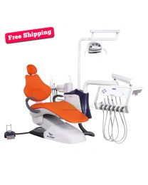 Touch sensor Human Friendly Economical Dental Chair Unit, with Automatic Disinfection Design, LED display, Free Shipping By Sea!