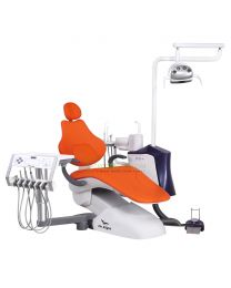 Human Friendly Dental Chair Unit, With Automatic Disinfection Design, Rotary type dentist unit, LED display