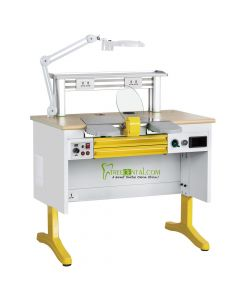 CE Approved,Dental Workstation Single Person Laboratory Equipments, Built-in Dust Collector, 1.0 M Length