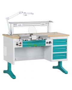 CE Approved, Dental Workstation Single Person Laboratory Equipments, Built-in Dust Collector, 1.2M Length