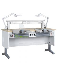 CE Approved, Dental Workstation Double Two Persons Dental Lab Equipments, Built-in Dust Collector, 1.6 M Length