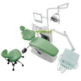 Music Dental Unit,Human Friendly Economical Dental Chair Unit,With Detachable Metal Backrest