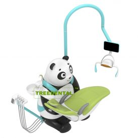 CE Approved,Lovely Panda Children Dental Chair/Unit,Kids Dental Chair,External Whale Floor Box,Hand Cart,Microfiber Leather