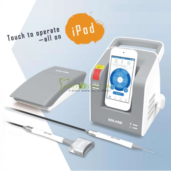CE Certification,Dental Diode Laser SOLASE, Pulse Power 16W/12W - Touch To  Operate Control Mode: ipod, iphone, ipad (The Price Is Without ipod,