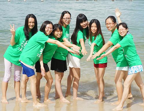 Playing at Huizhou Beach