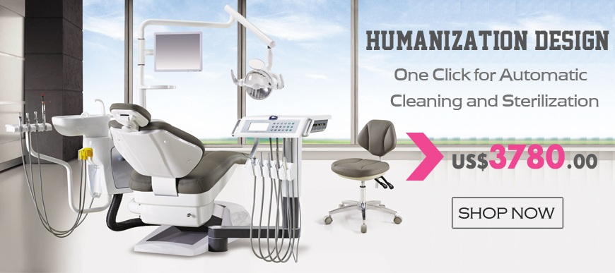 Human Friendly Dental Chair Unit, With Automatic Disinfection Design, Comfortable Environmental Leather Cushion