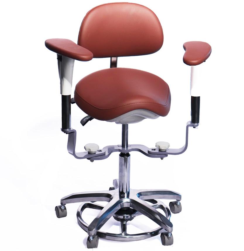 Swing-out-Armrests-Dental-Operator-Stool