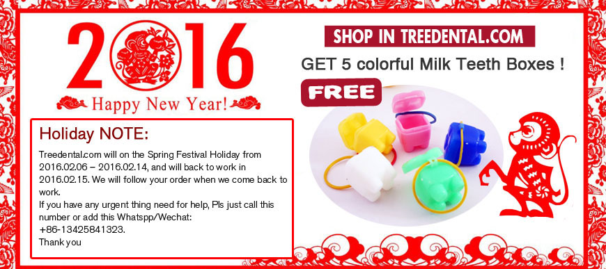 Happy China New Year's Day Promo!get 5 colorful Milk Teeth Boxes for FREE!