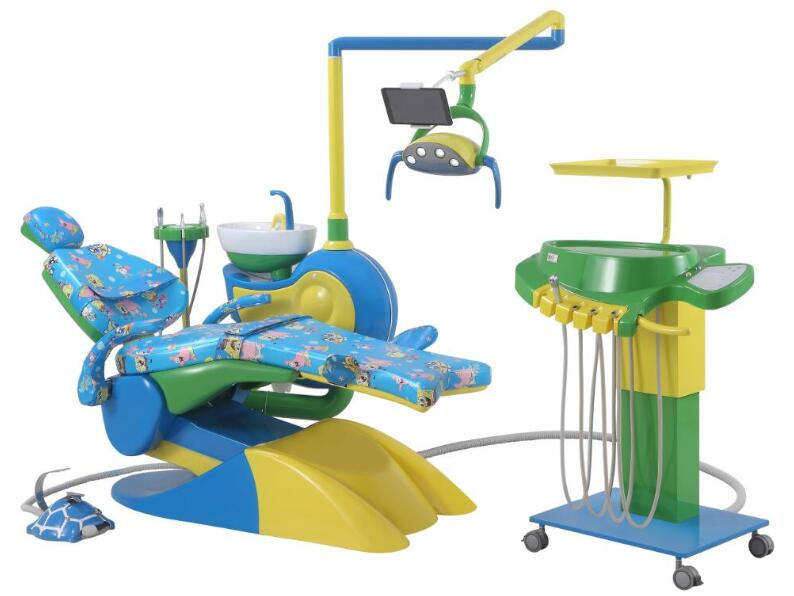 Pediatric Dental Chair with Movable Cart