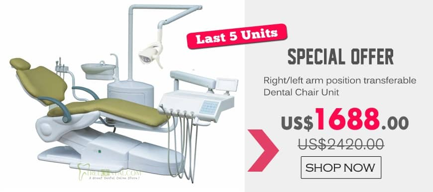 Last 5 Units!Special Offer Right/left arm position transferable Dental Chair Unit!