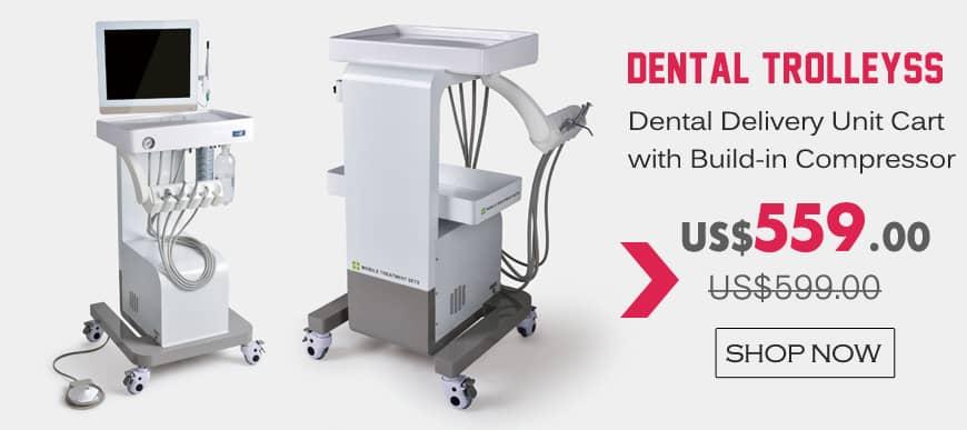 Mobile Treatment Sets Dental Delivery Unit Cart Dental Trolleys