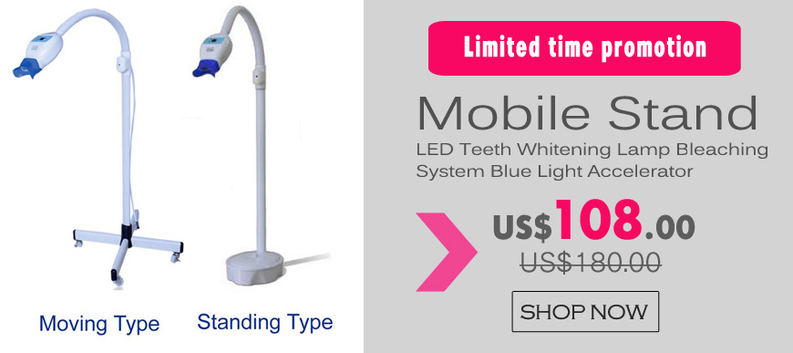 Mobile Stand Dental LED Teeth Whitening Lamp Bleaching System Blue Light Accelerator
