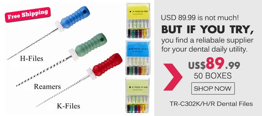 FREE SHIPPING!TR-C302K/H/R Dental Files