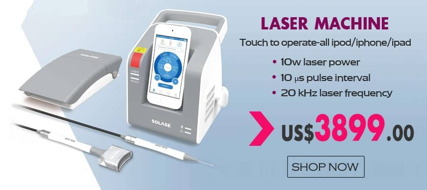 Dental Diode Laser SOLASE 10W/7W Laser Power - Touch to Operate
